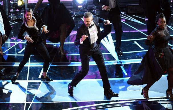 Justin Timberlake en su actuación con el que ha inaugurado la gala de los Oscar