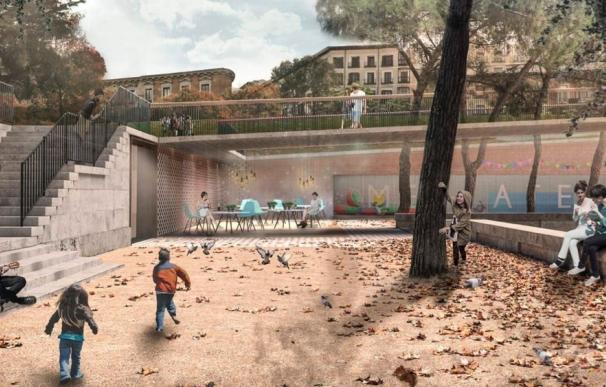 El proyecto ganador para la Plaza de España prevé una reducción del tráfico del 50 por ciento y mil árboles más