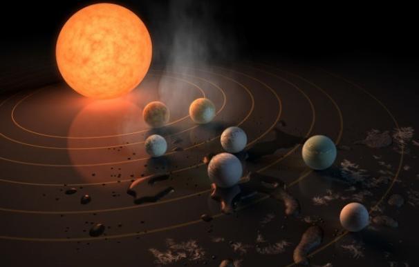 Radioastrónomos buscan señales inteligentes en TRAPPIST 1