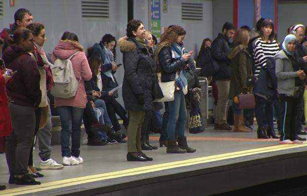 Metro cifra en un 7% el seguimiento de la huelga de maquinistas en el primer tramo de paros de la segunda jornada