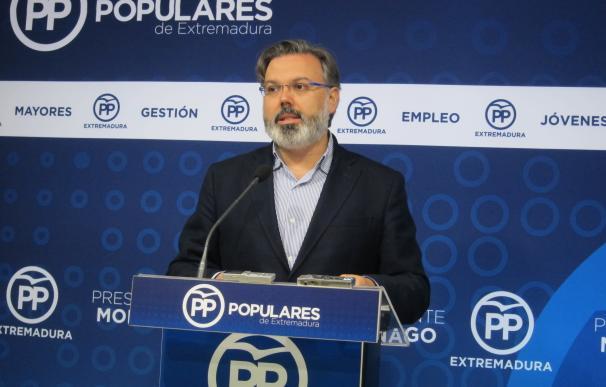 """El PP extremeño se pone """"a disposición"""" de la Junta para revertir los datos económicos """"negativos"""""""