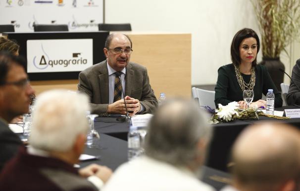 Lambán respalda la vocación de liderazgo de Ejea en el complejo agroalimentario aragonés