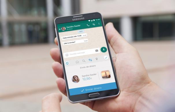 ImaginBank lanza un servicio para enviar dinero desde 'apps' como Whatsapp y Facebook Messenger