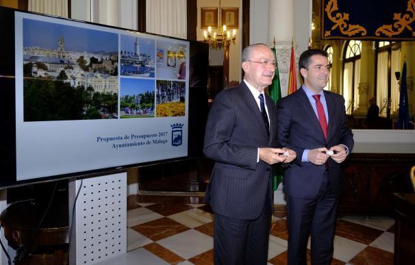 El presupuesto del Ayuntamiento de Málaga para 2017 asciende a 749 millones de euros