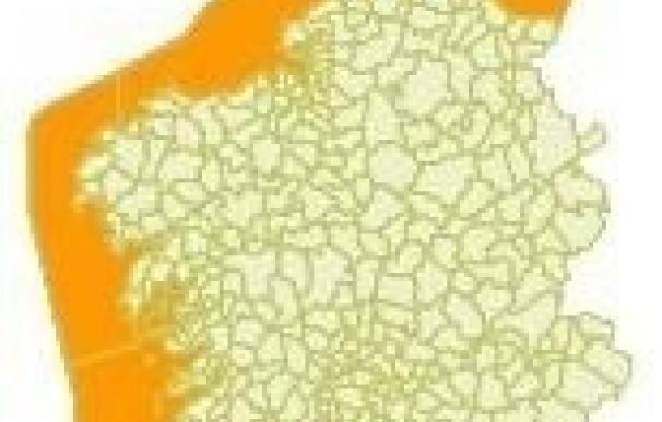 Un temporal costero de nivel naranja afectará desde este lunes al litoral gallego