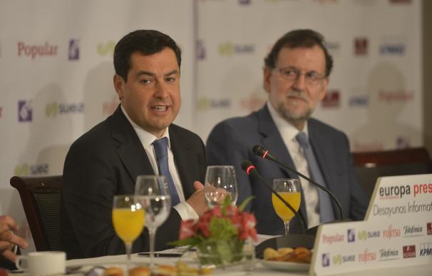 """Moreno promete que Andalucía dejará de ser """"farolillo rojo"""" del paro en una legislatura si alcanza la Junta"""
