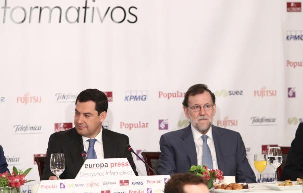 """Moreno no pedirá elecciones anticipadas si Susana Díaz lidera el PSOE porque Andalucía """"necesita estabilidad"""""""
