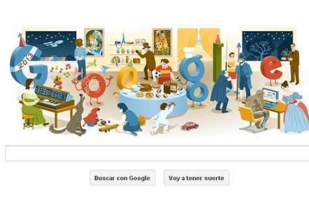 Nochevieja 2012: Google adorna su logo con los mejores 'doodle' del año