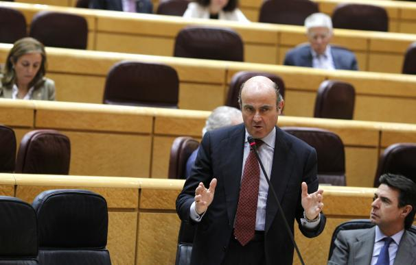 Guindos explica mañana en el Senado las líneas de su departamento y la privatización de Bankia