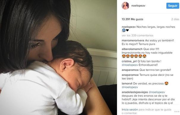 Noelia López radiante tras el embarazo