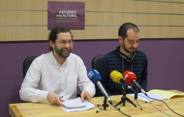 Podemos plantea un acuerdo de mínimos para demandar las infraestructuras urgentes de Asturias