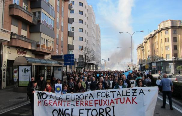 """Más de 30 ciudades españolas salen a la calle para exigir una acogida real de refugiados y contra la """"Europa fortaleza"""""""
