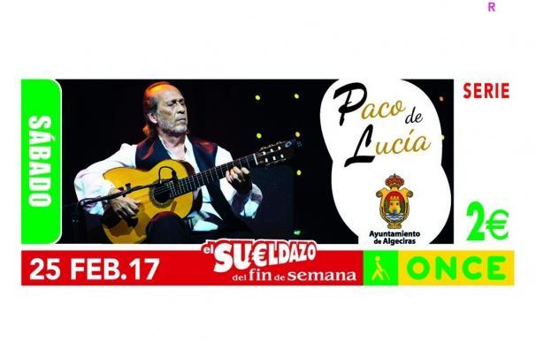 El cupón de la ONCE dedicado a Paco de Lucía reparte 360.000 euros en premios entre Cádiz, Córdoba, Granada y Málaga