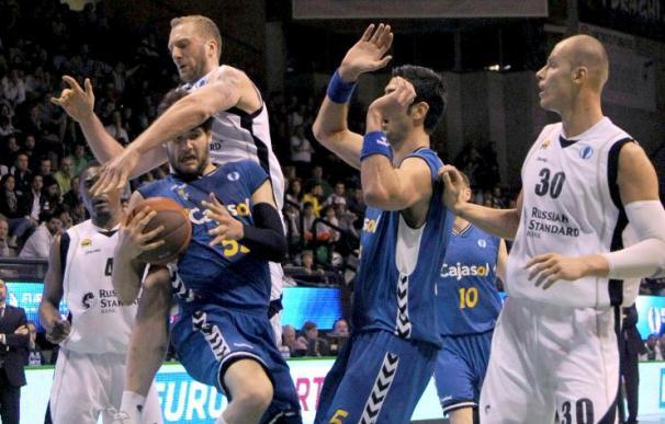 92-77. El Cajasol de Sevilla cae ante el Unics Kazan ruso en la final de la Eurocopa de baloncesto