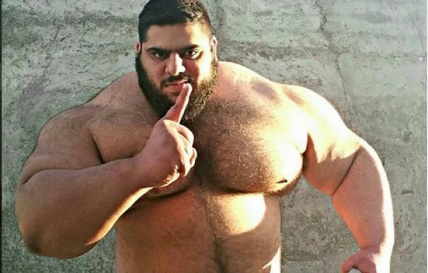 El 'Hulk iraní', nuevo fenómeno de las redes sociales.