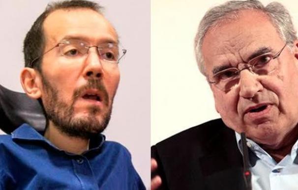 Pablo Echenique y Alfonso Guerra.