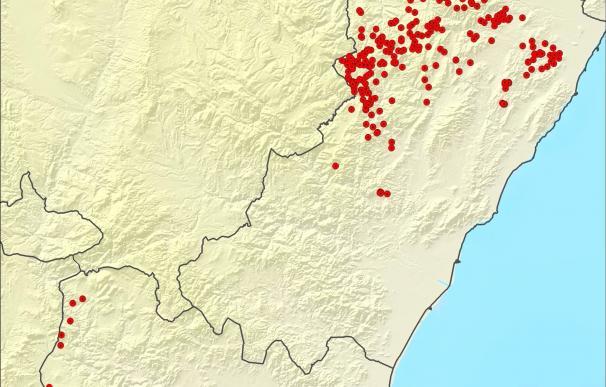 Los rayos dejan 315 descargas en la Comunitat como consecuencia de las tormentas