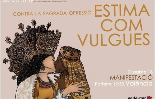 El juez inadmite la denuncia contra los responsables del cartel de dos vírgenes besándose para el Orgullo en Valencia