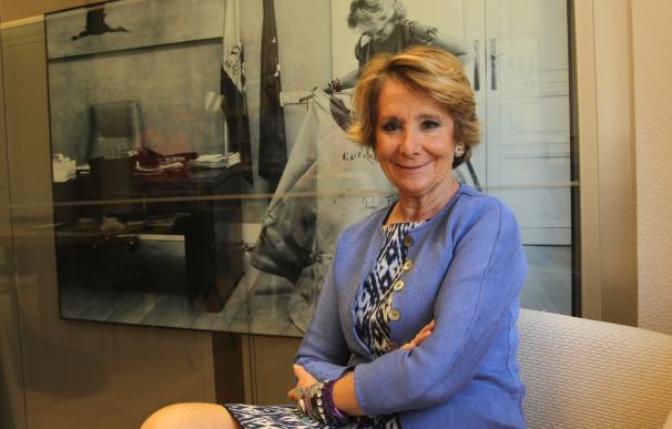 Entrevista a Esperanza Aguirre, expresidenta del PP de Madrid y concejal en el Ayuntamiento de Madrid.