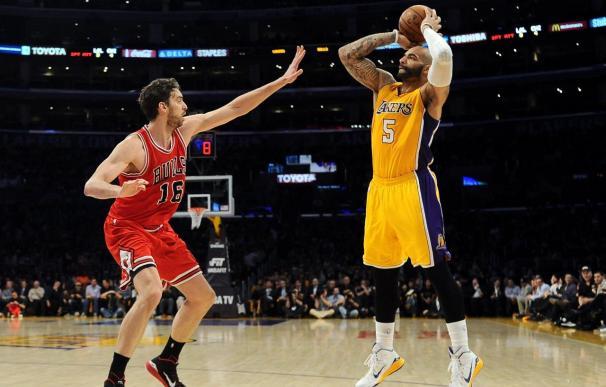 123-116. Los Lakers rinden homenaje a Gasol y sorprenden a los Bulls
