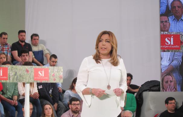 """Susana Díaz augura que Moreno (PP-A) volverá a perder en autonómicas aunque """"saque pecho"""" por el 26J"""