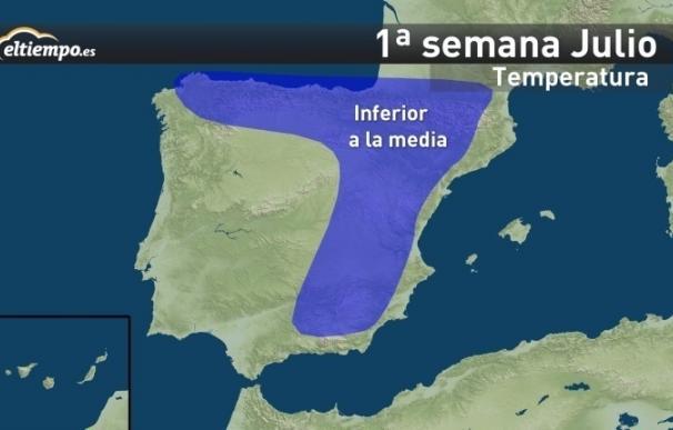 Julio será más seco de lo normal en Galicia, lloverá por encima de la media en el interior y hará más calor al final