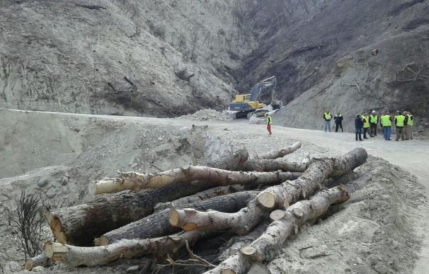 El Ministerio finaliza los trabajos de emergencia en la zona afectada por el incendio de Quesada