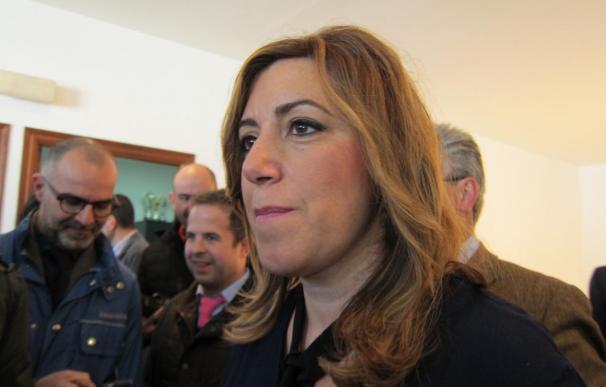 """Díaz dice que está """"limpiando"""" la vida pública en Andalucía y que no está dispuesta a que """"manchen la imagen"""" del PSOE-A"""