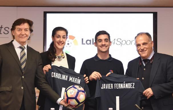 """Javier Fernández y Carolina Marín ayudarán a """"expandir la marca de LaLiga"""" por el mundo"""