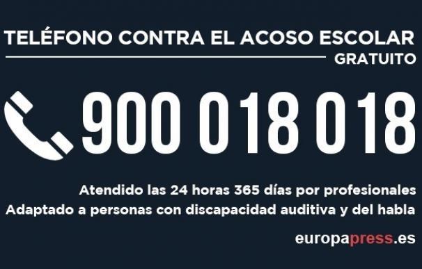 Educación gastará 100.000 euros en promocionar su teléfono contra el acoso escolar en 2017