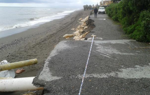 Comienzan las actuaciones de emergencia en las playas de los municipios afectados por temporal