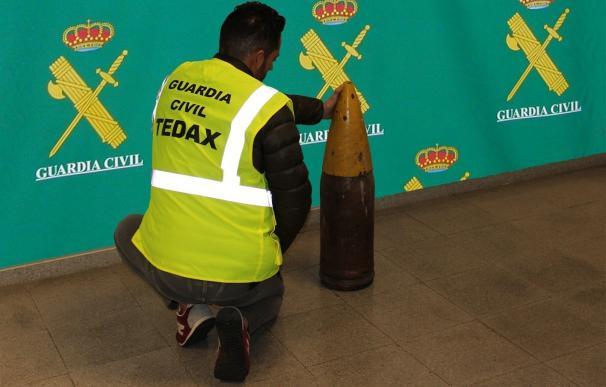Neutralizado un proyectil de uso militar encontrado en el sótano de una vivienda en Ponteareas (Pontevedra)