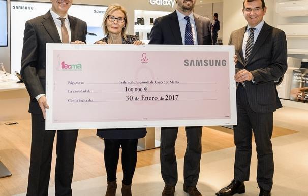 Samsung entrega a FECMA 100.000 euros para la lucha contra el cáncer recaudados por las descargas de una app solidaria