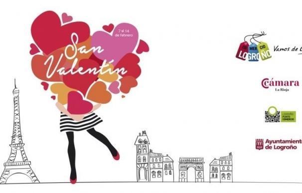 Logroño Punto Comercio desarrollará la campaña de San Valentín 'Atrapa el viaje de tus sueños'