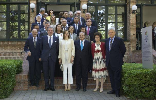 Aguilar asiste a la reunión del Patronato de la Residencia de Estudiantes que preside la reina Letizia