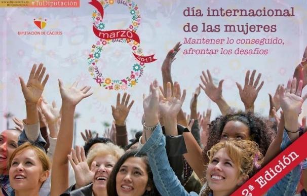 Ocho mujeres ponen voz y rostro a la campaña de la Diputación de Cáceres del 8 de marzo