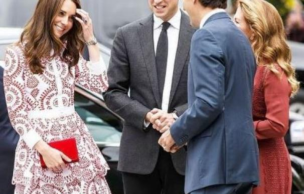 Kate Middleton y Justin Trudeau