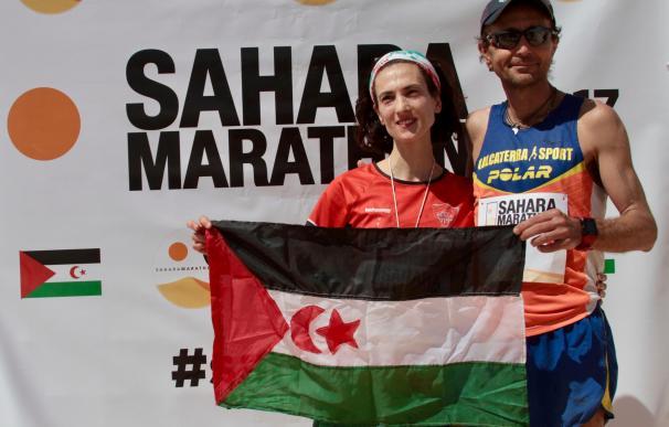 El italiano Calcaterra y la española Frechilla ganan el Sahara Marathon