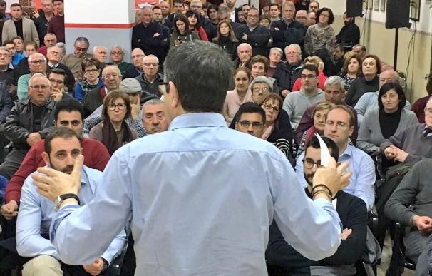 """Patxi López dice estar cada vez """"más convencido"""" de que la """"inmensa mayoría"""" de la militancia respaldará lo que defiende"""