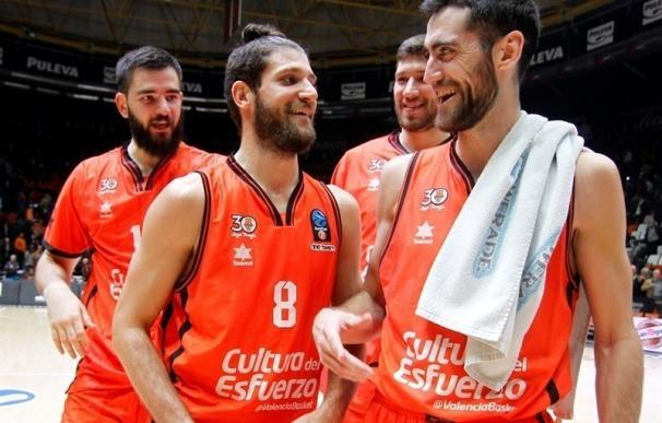 (Crónica) Valencia Basket, único equipo español que golpea primero en cuartos de final