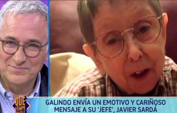 Xavier Sardà se emociona en directo tras una llamada de Galindo