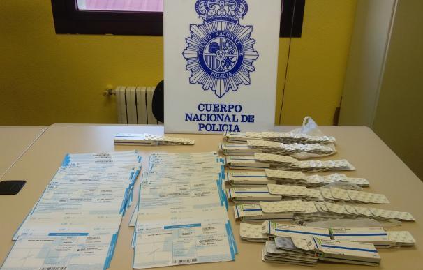 Detenidos tres varones en Palencia con más de 100 recetas fraudulentas de ansiolíticos