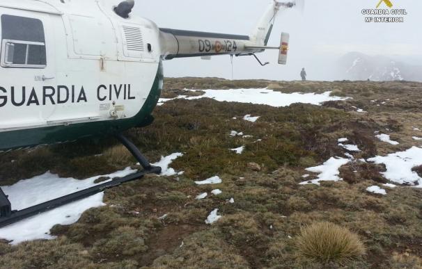 Rescatado un montañero de Valladolid que sufrió un accidente en la Peña de Valdorria, a 1.800 metros de altura