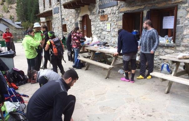 Más de un centenar de voluntarios continúan la búsqueda del montañero desaparecido en Bujaruelo hace 18 días