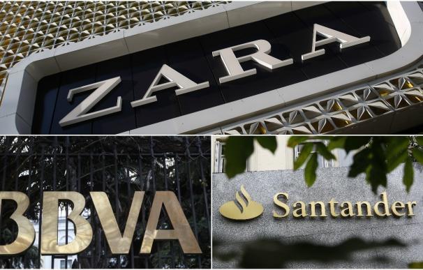 (Ampl.) Zara, Santander y BBVA entre las 100 marcas más valiosas del mundo, según Forbes