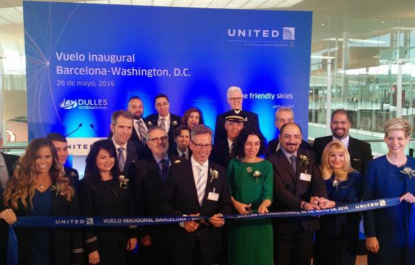 United Airlines pone en servicio el primer enlace directo entre Barcelona y Washington