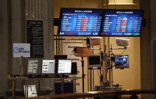 El Ibex 35 aminora su caída a media sesión al 2,77% tras tocar mínimos desde 2003