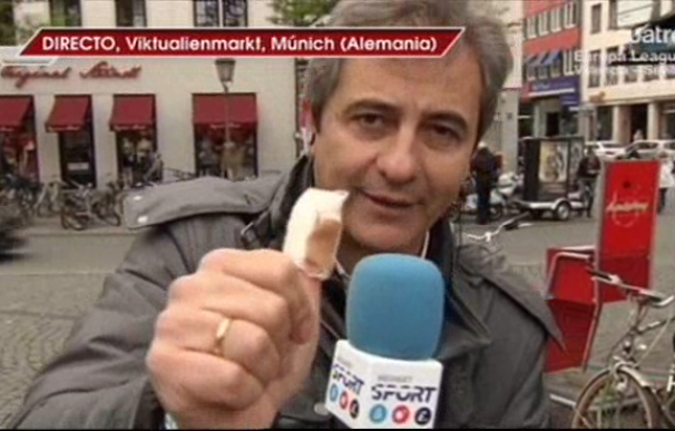 Manolo Lama se quema un dedo en Múnich