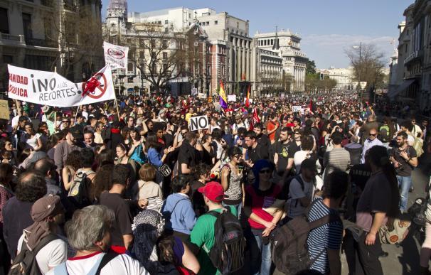 La manifestación principal de la huelga, en imágenes