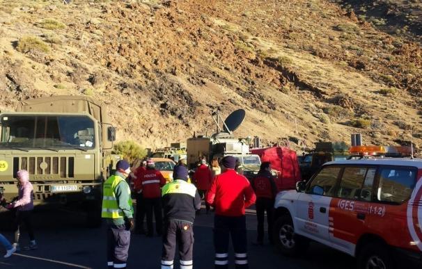Comienza la evacuación en el Teide tras la avería del teleférico